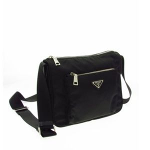 Black Prada crossbody nylon bag vela $1100
